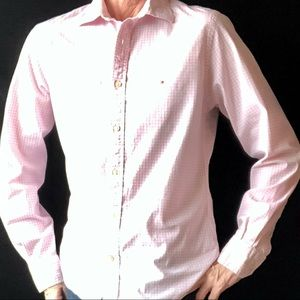 Tommy Hilfiger Custom Fit Pink/White Button Down